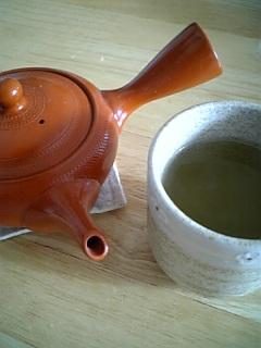 お茶の時間。