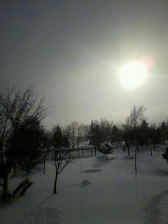 雪の午後。